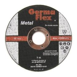 TARCZA GF METAL T41 PŁASKA 115x2,5x22