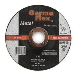 TARCZA GF METAL T42 WYPUKŁA 125x2.5x22