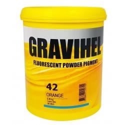 GRAVIHEL PIGMENT FLUORESCENCYJNY 42 POMARAŃCZOWY - 0,25kg