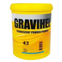 GRAVIHEL PIGMENT FLUORESCENCYJNY 43 POMARAŃCZOWO-CZERWONY - 0,25kg