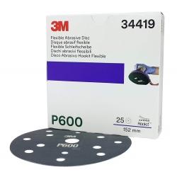 3M Elastyczny Dysk Ścierny Dust Free 150mm 34419 - P600