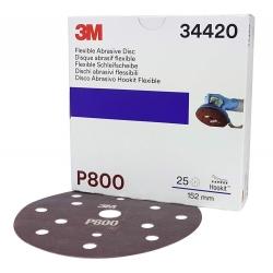3M Elastyczny Dysk Ścierny Dust Free 150mm 34420 - P800