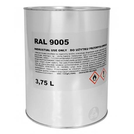 Troton Lakier Akrylowy Czarny RAL9005 - 3,75L