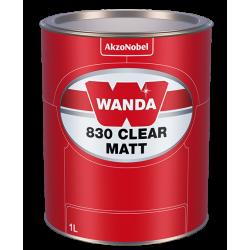 WANDA 830 Lakier Bezbarwny Clear Matt - 1L