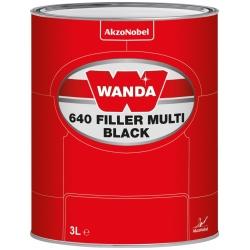 WANDA 640 Podkład Wypełniający Filler Multi Czarny - 3L